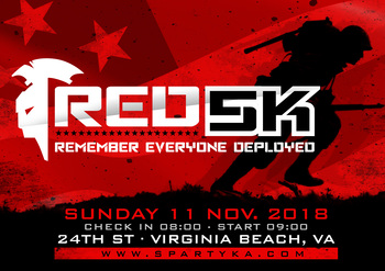 RED 5k - Virginia Beach logo