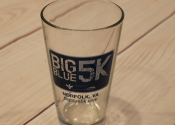 Big Blue 5K Pint Glass