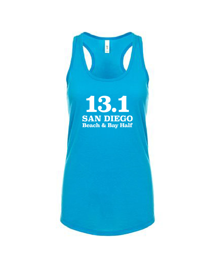 Womens Turquoise Cotton Poly Racerback Tank