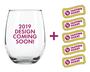 Extra Wine Glass + 5 FREE Tasting Tickets