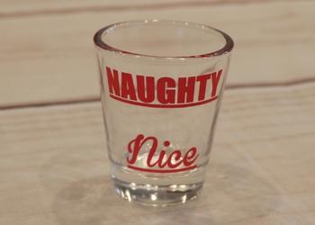 Naughty/Nice Shot Glass