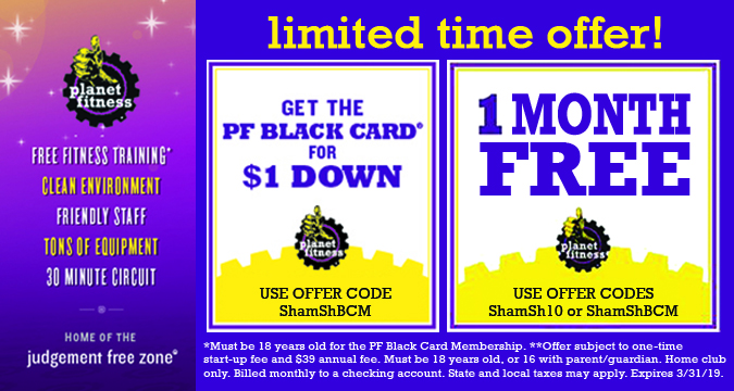 Planet Fitness - Get 1 Month FREE!