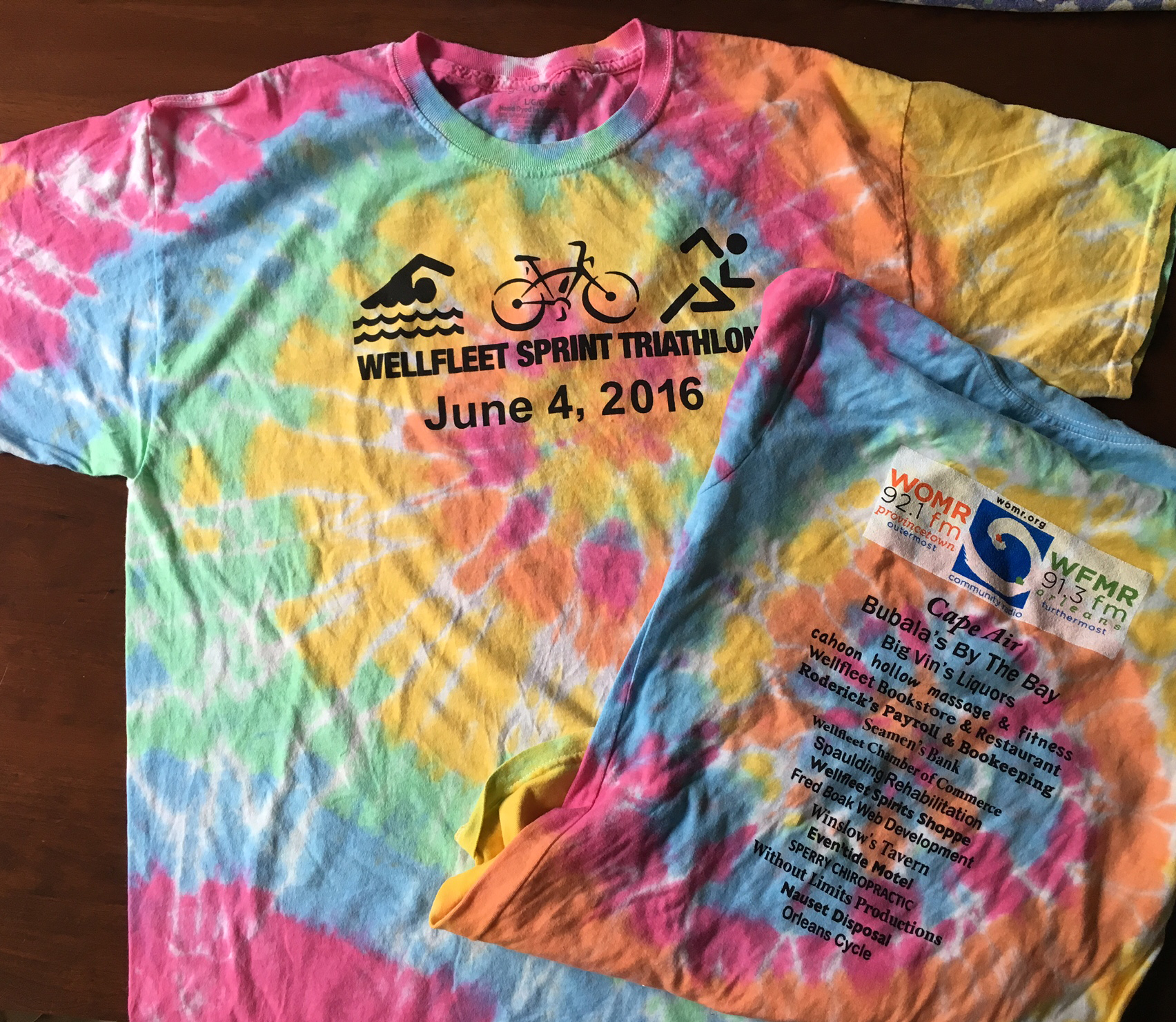 Wellfleet Sprint Rainbow Tie Dye T-Shirt