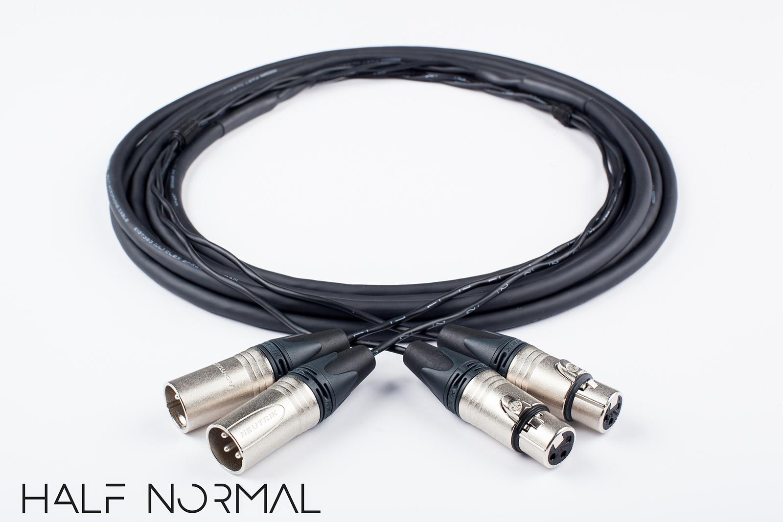 2 Channel  Snake Cable W// Neutrik Gold XLR to XLR. 10/' Mogami 2930