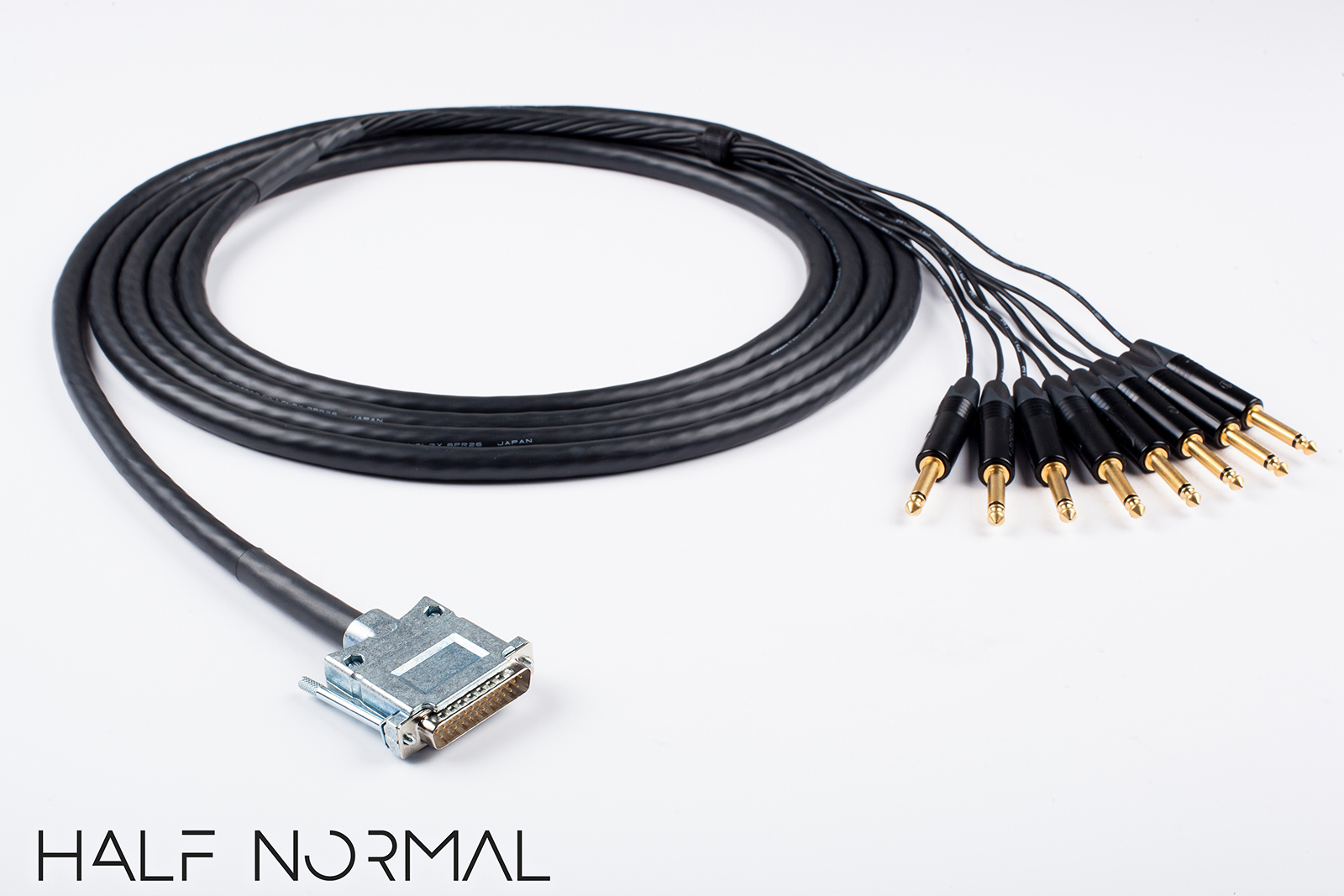 """8 Channel Snake Cable 5/' Foot Mogami 2932 Neutrik Rean Gold DB25 to 1//4/"""" TRS"""