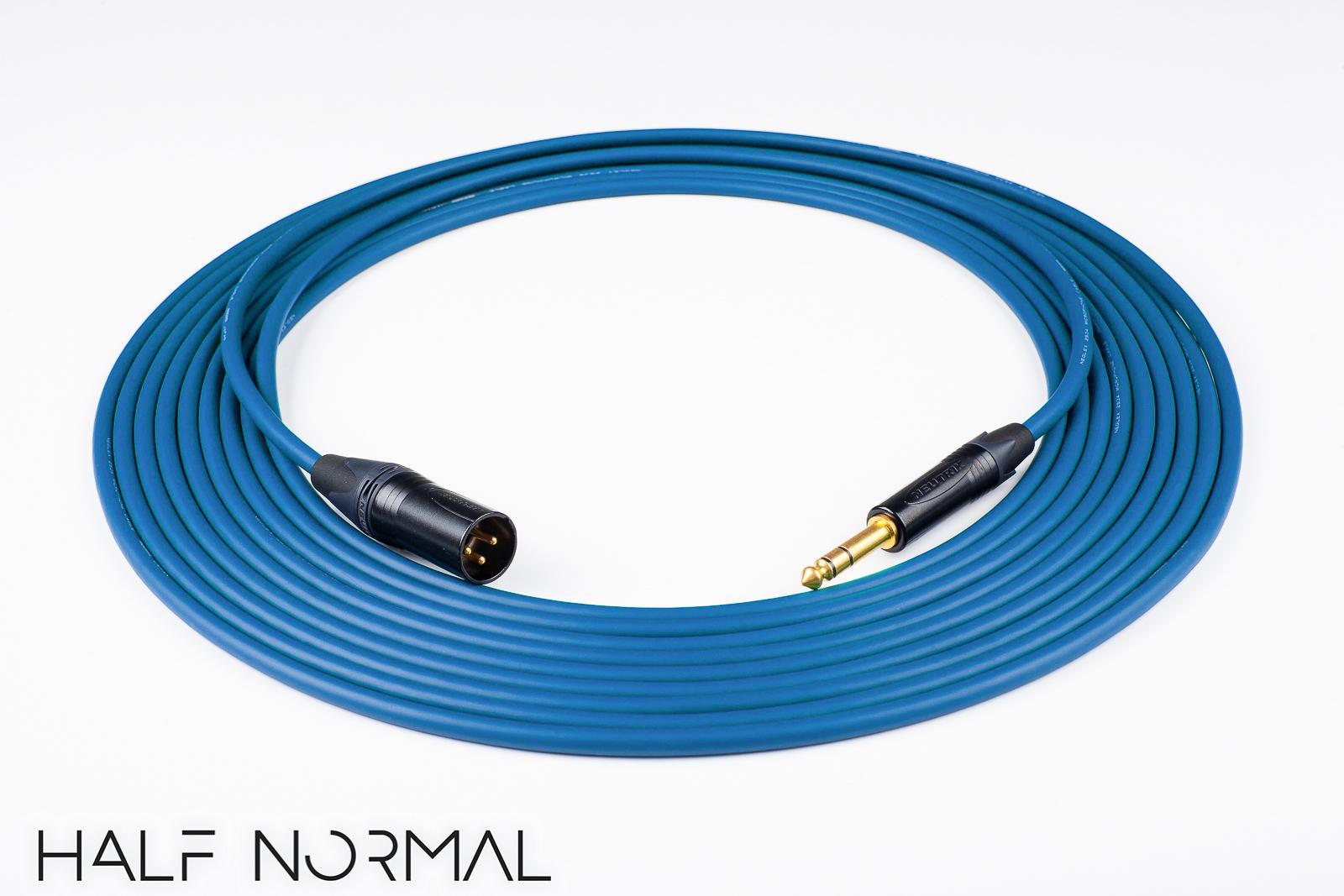 Mogami 2534 Quad CableNeutrik Gold 90º XLR-F to XLR-MRed 20 Feet 20/'