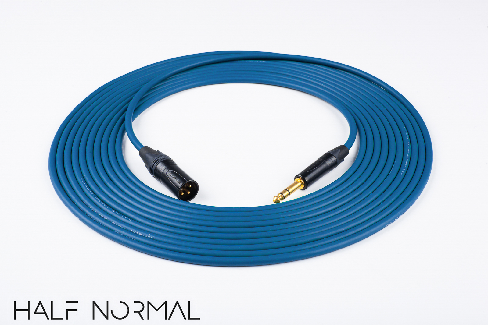 50\' Mogami 2549 Standard Balanced Cable Neutrik Gold XLR Male to 1/4 ...