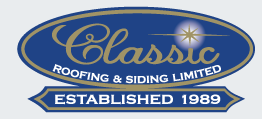 Website for Classic Roofing & Siding Ltd.
