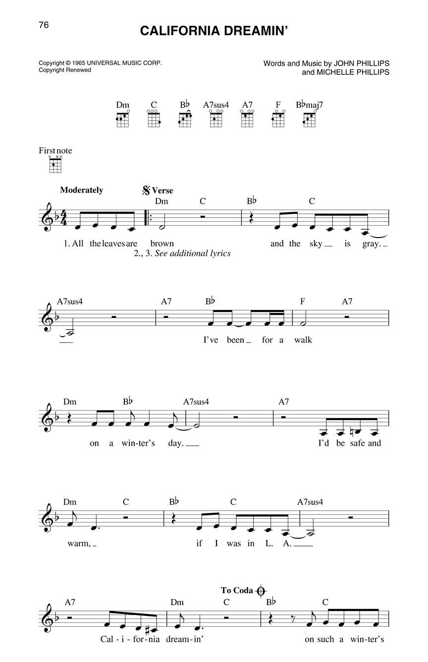 Ukulele Fake Book : 5 5 x 8 5 Edition : Melody/Lyrics/Chords : # 102101