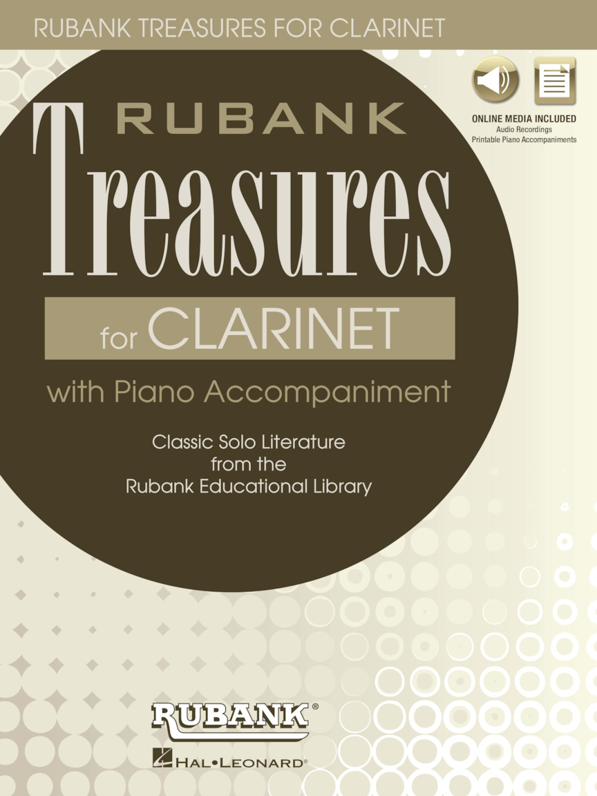 Rubank Treasures for Clarinet : Book with Online Audio (stream or download)  : ed  H  Voxman : Book/Online Media : # 121405