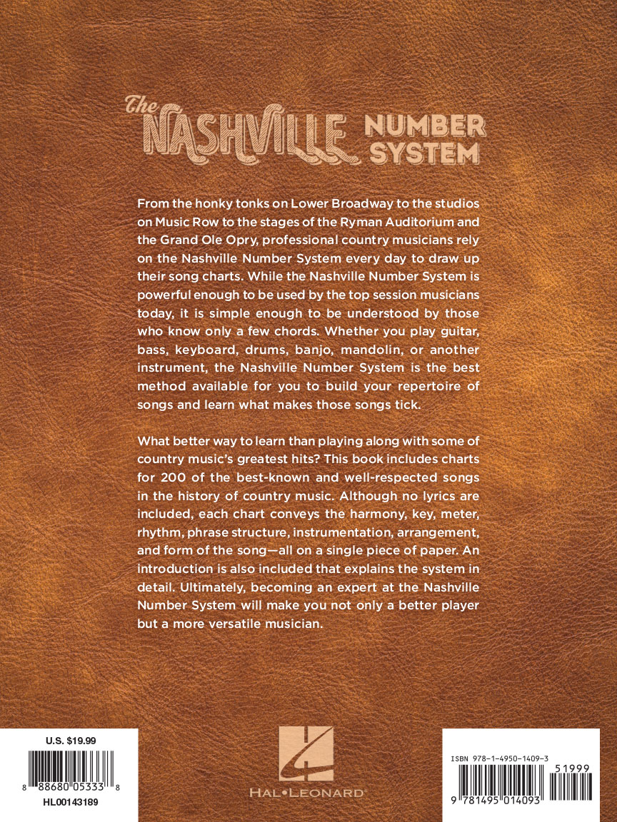 The nashville number system fake book andys music back cover hexwebz Images