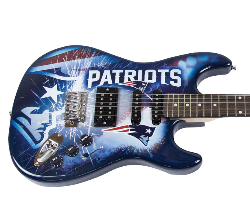 New England Patriots Woodrow Guitar Guitar Strap