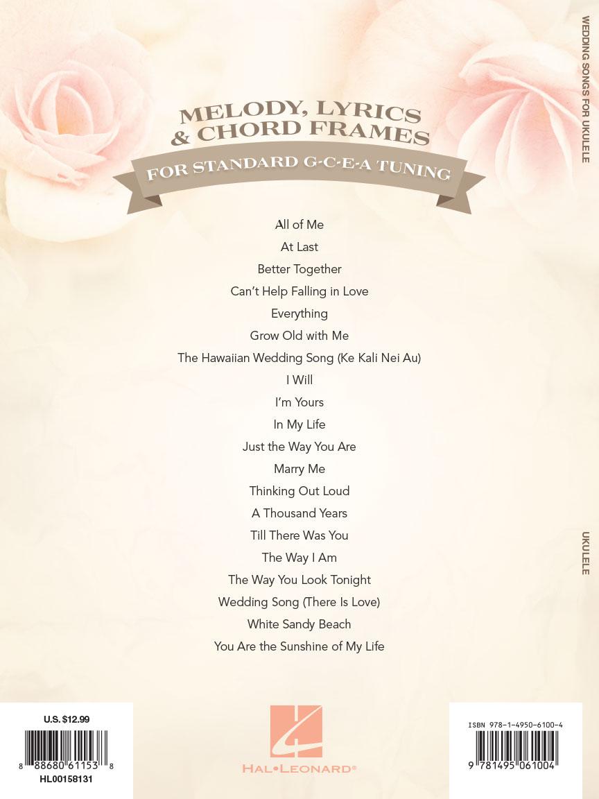 Wedding Songs for Ukulele : 20 Favorites to Strum & Sing : # 158131