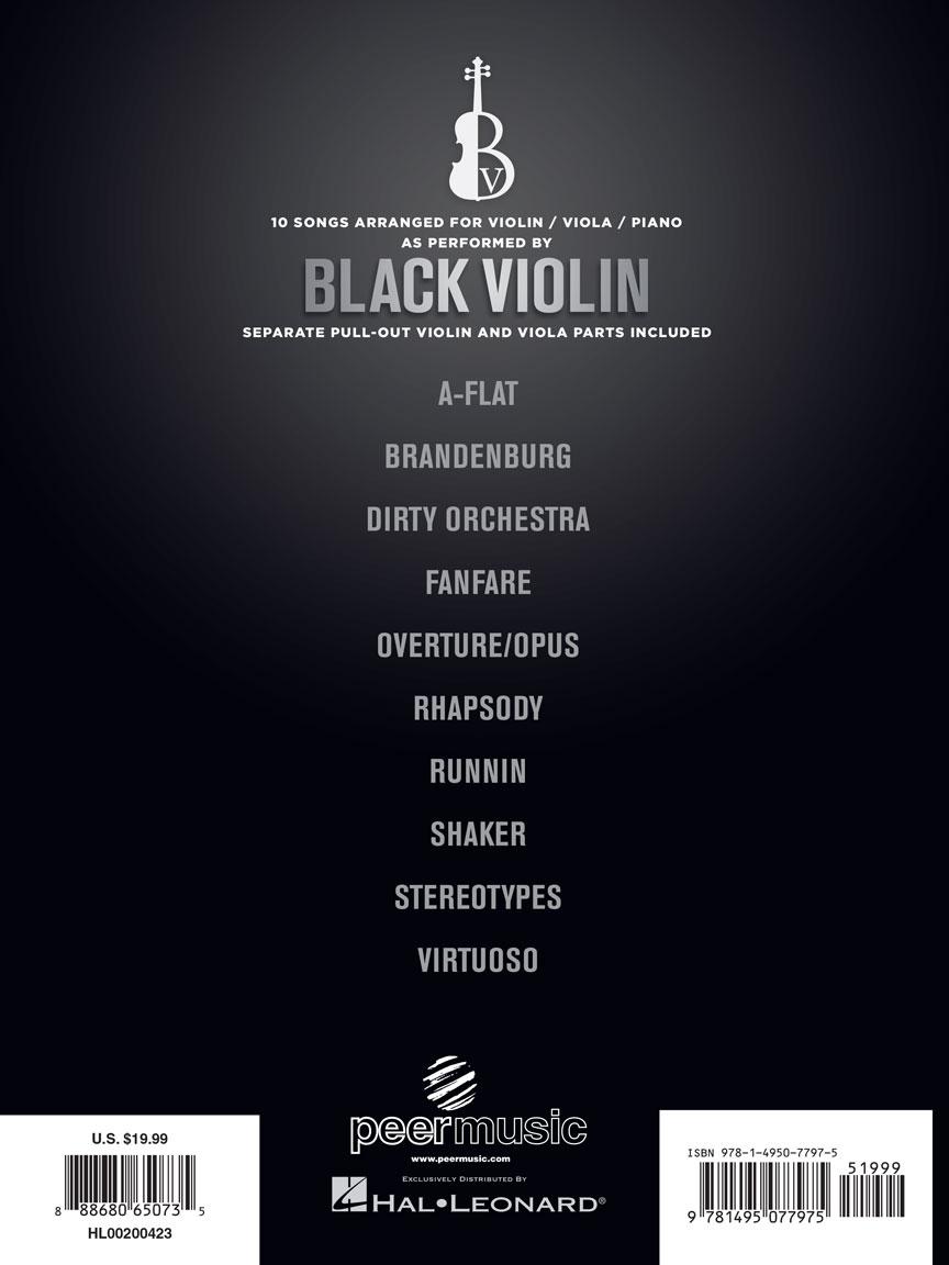 Black Violin Collection : Violin, Viola & Piano : # 200423