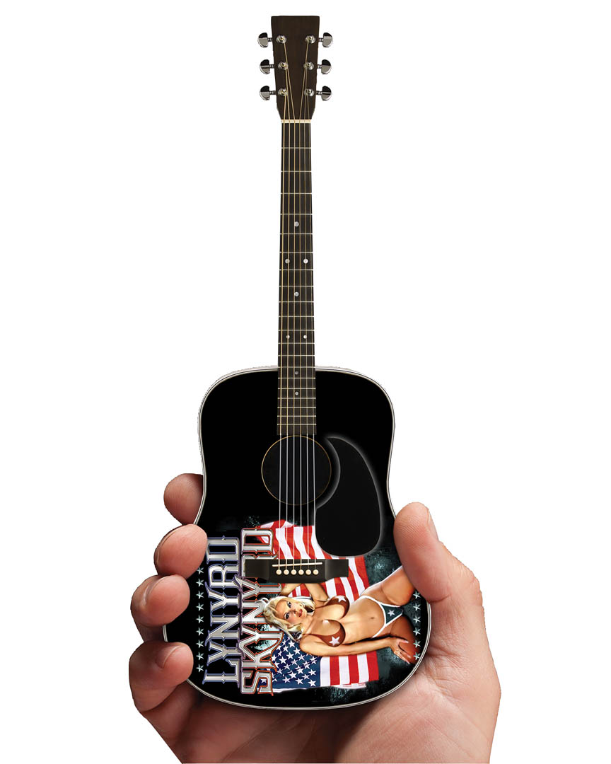 lynyrd skynyrd acoustic guitar officially licensed miniature guitar replica 2m l02 5006. Black Bedroom Furniture Sets. Home Design Ideas