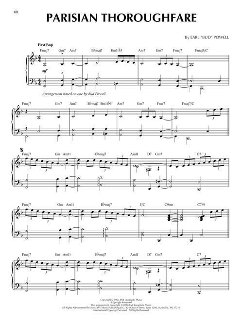 BEBOP CLASSICS - Jazz Piano Solos Series Volume 52 na Freenote