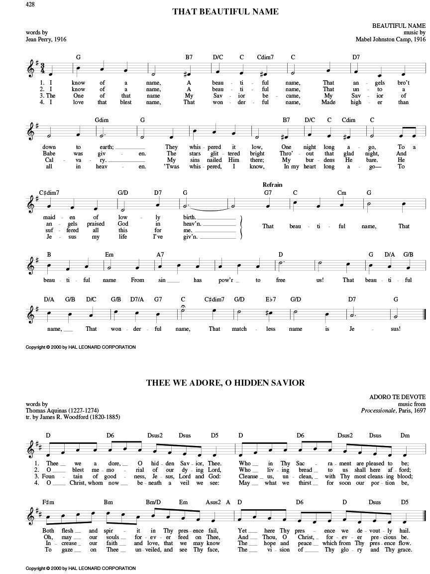 The Hymn Fake Book C Edition Melody Lyrics Chords