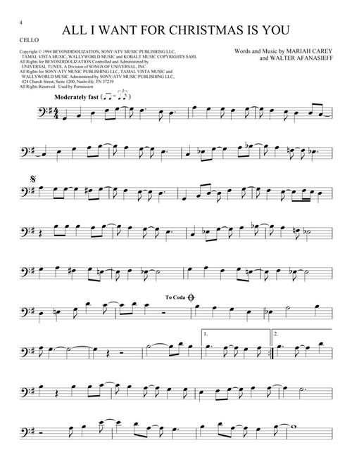 101 Christmas Songs For Cello
