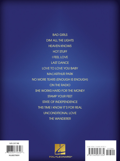 Best of Donna Summer Sheet Music by Donna Summer (SKU