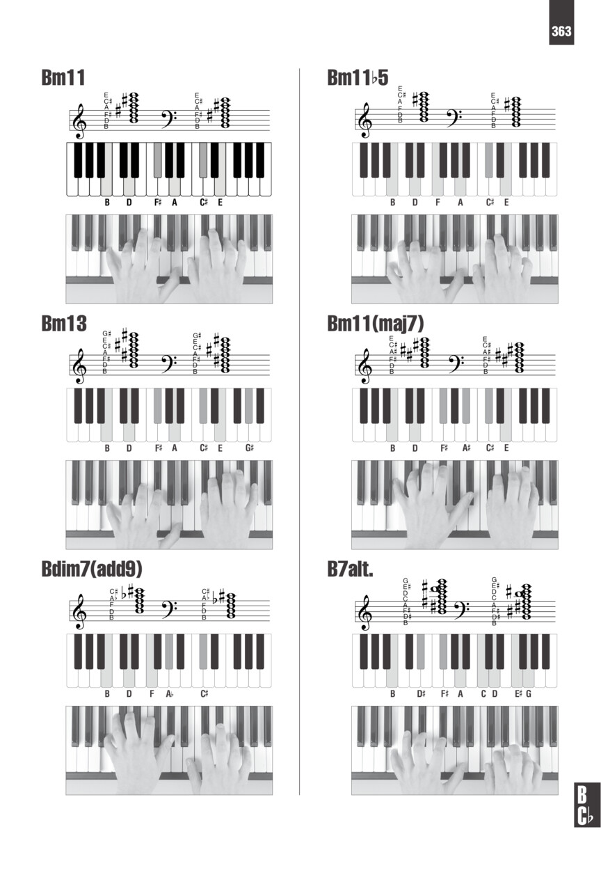 Picture Chord Encyclopedia For Keyboard   Photos  Diagrams And Music Notation For Over 1 600
