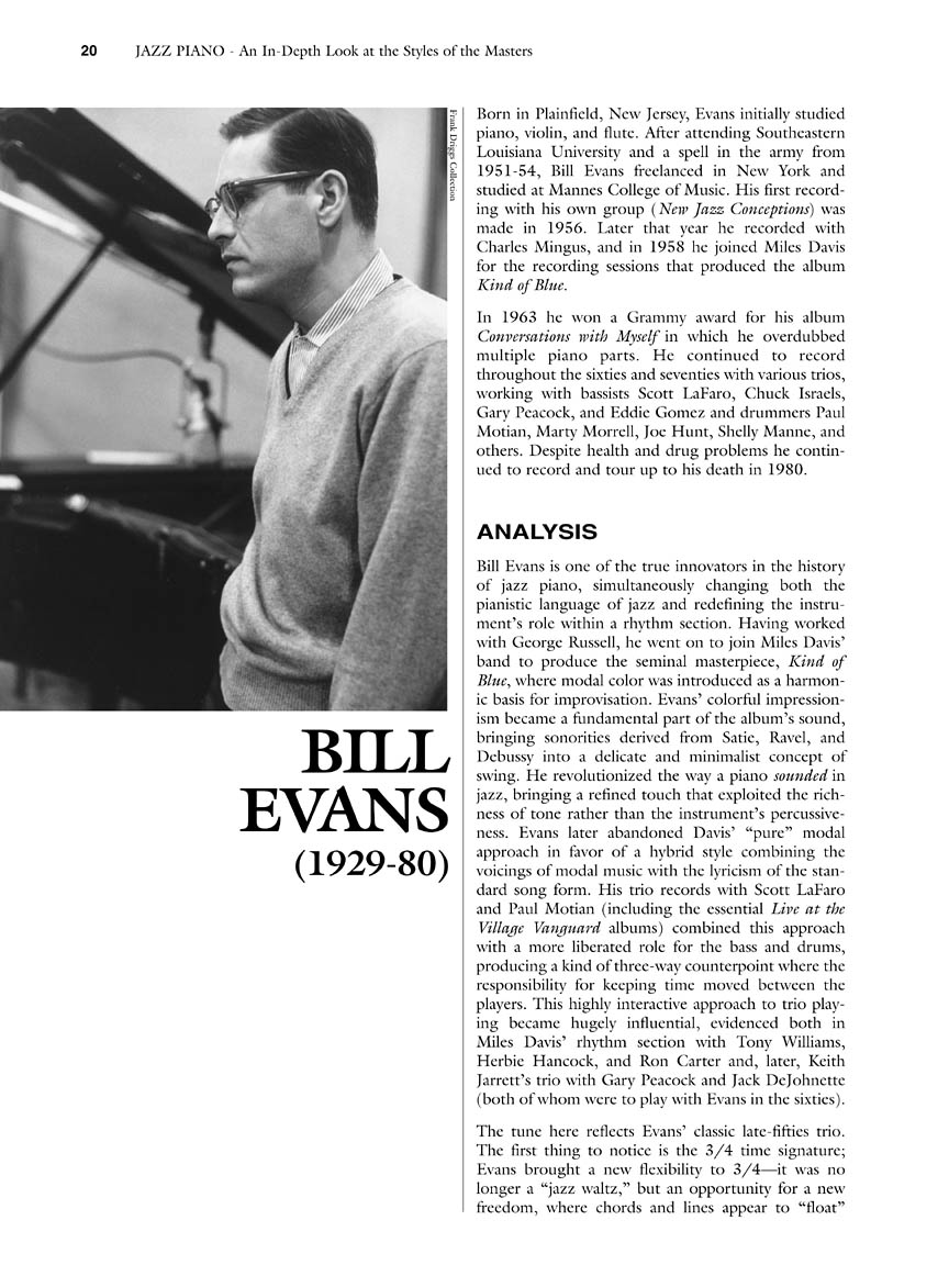 Jazz Piano : An In-Depth Look at the Styles of the Masters : by Liam Noble  : # 311050