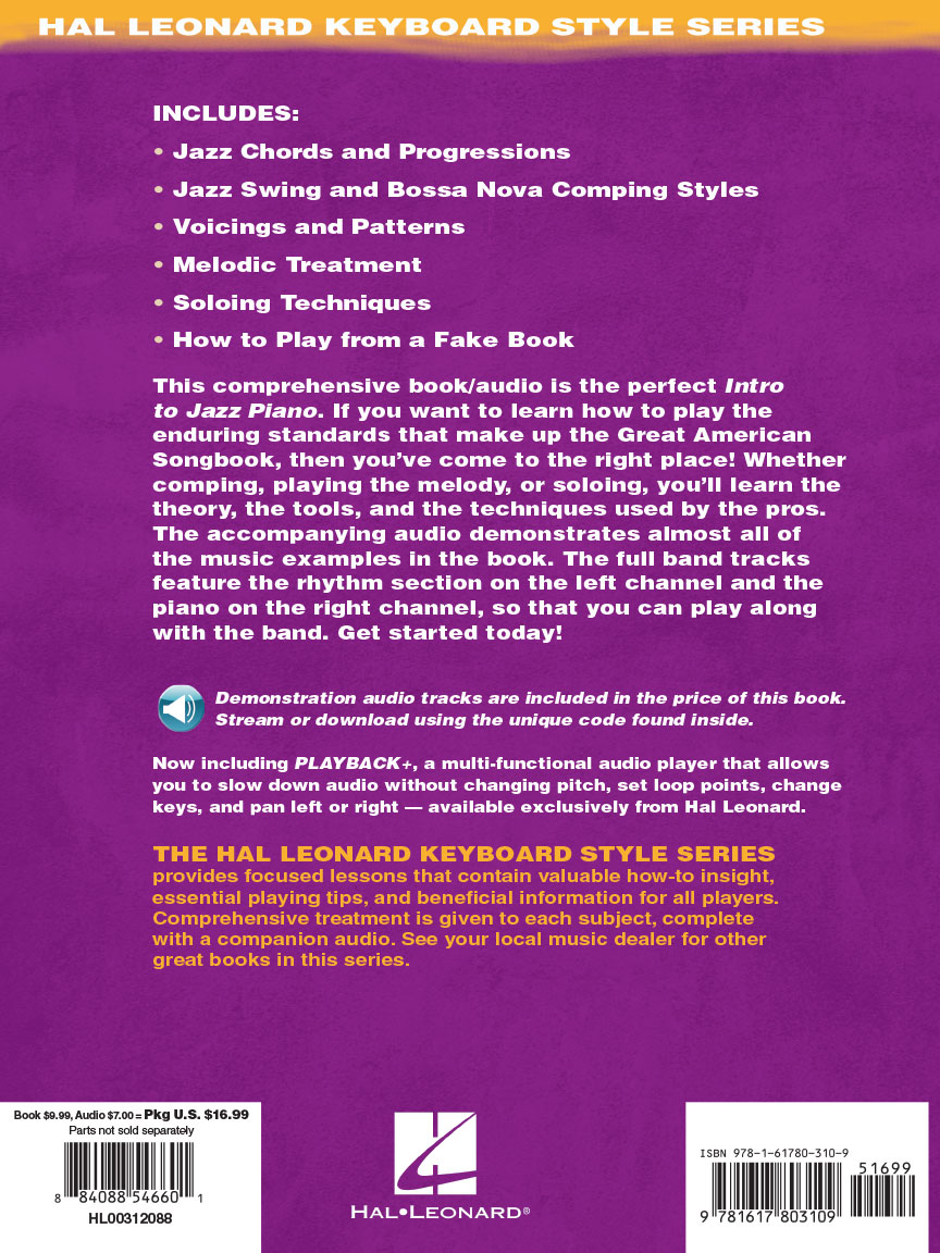 Intro to Jazz Piano - Hal Leonard Keyboard Style Series | Northwest