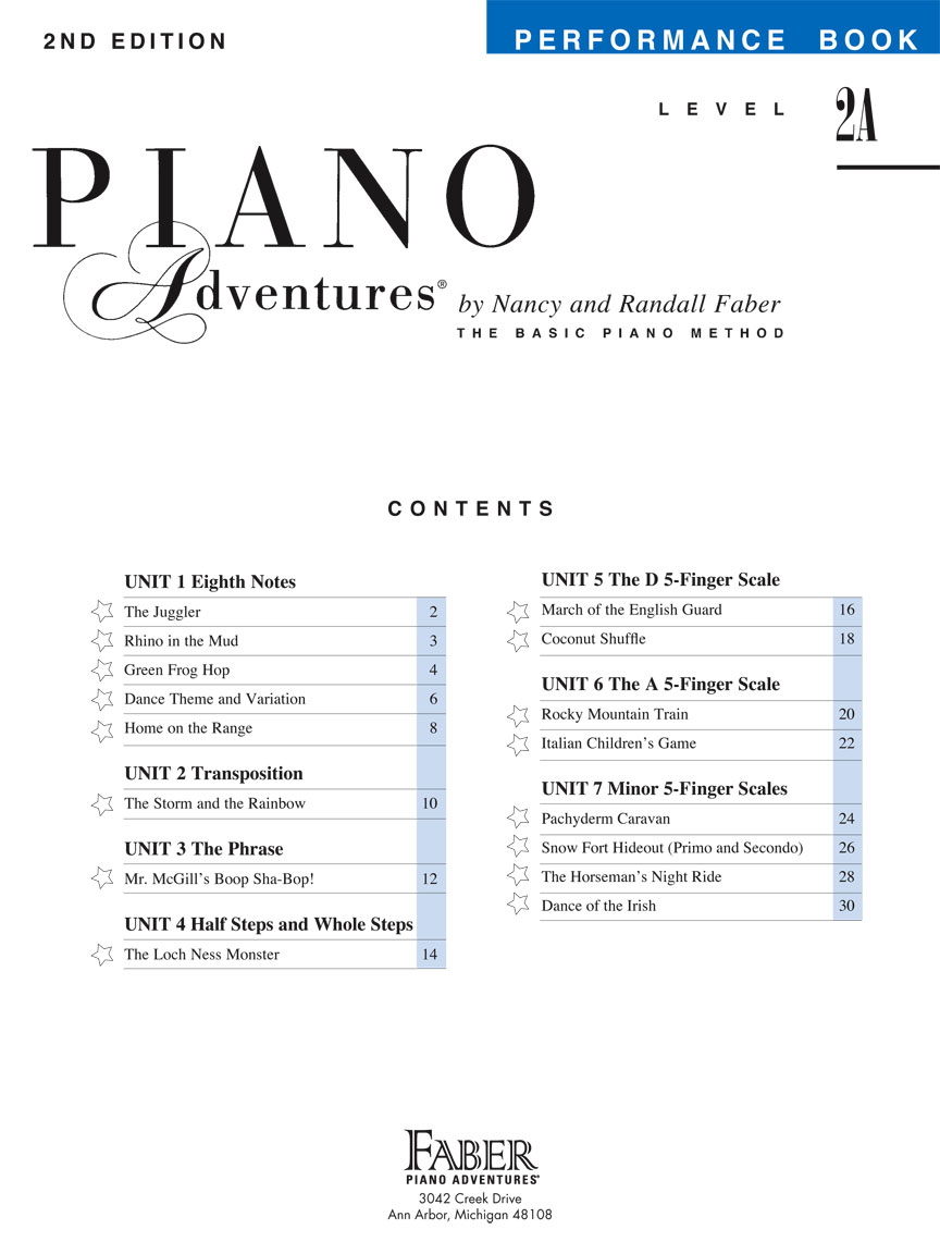 level 2a performance book 2nd edition piano. Black Bedroom Furniture Sets. Home Design Ideas