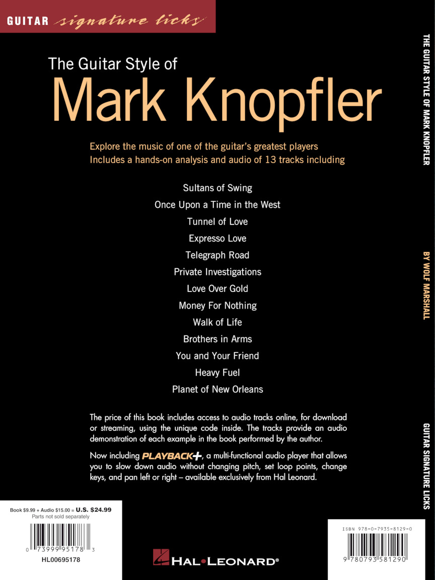 The Guitar Style of Mark Knopfler (Guitar Tab) : by Wolf Marshall :  Book/Online Audio : # 695178