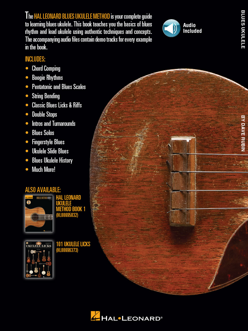 Hal Leonard Blues Ukulele : Learn to Play Blues Ukulele with Authentic  Licks, Chords, Techniques & Concepts : by Dave Rubin : Book/Online Audio :  #