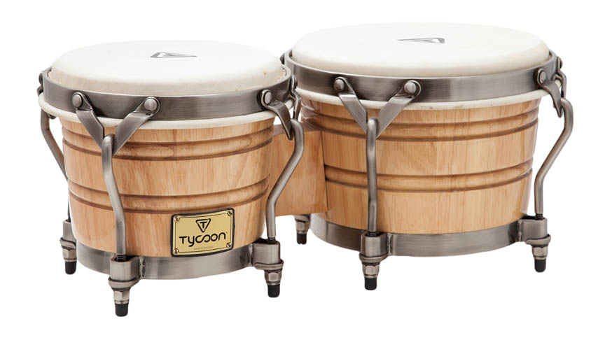 Tycoon Percussion TSBH-BCCCL 7 /& 8 1//2 Signature Heritage Cafe Con Leche Series Bongos