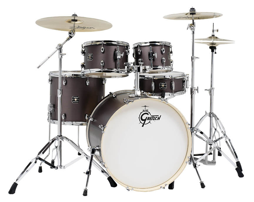 gretsch drums ge4e825zg energy 5 piece drum set with 13 16 20 39 zildjian cymbals 22 39 bass drum. Black Bedroom Furniture Sets. Home Design Ideas