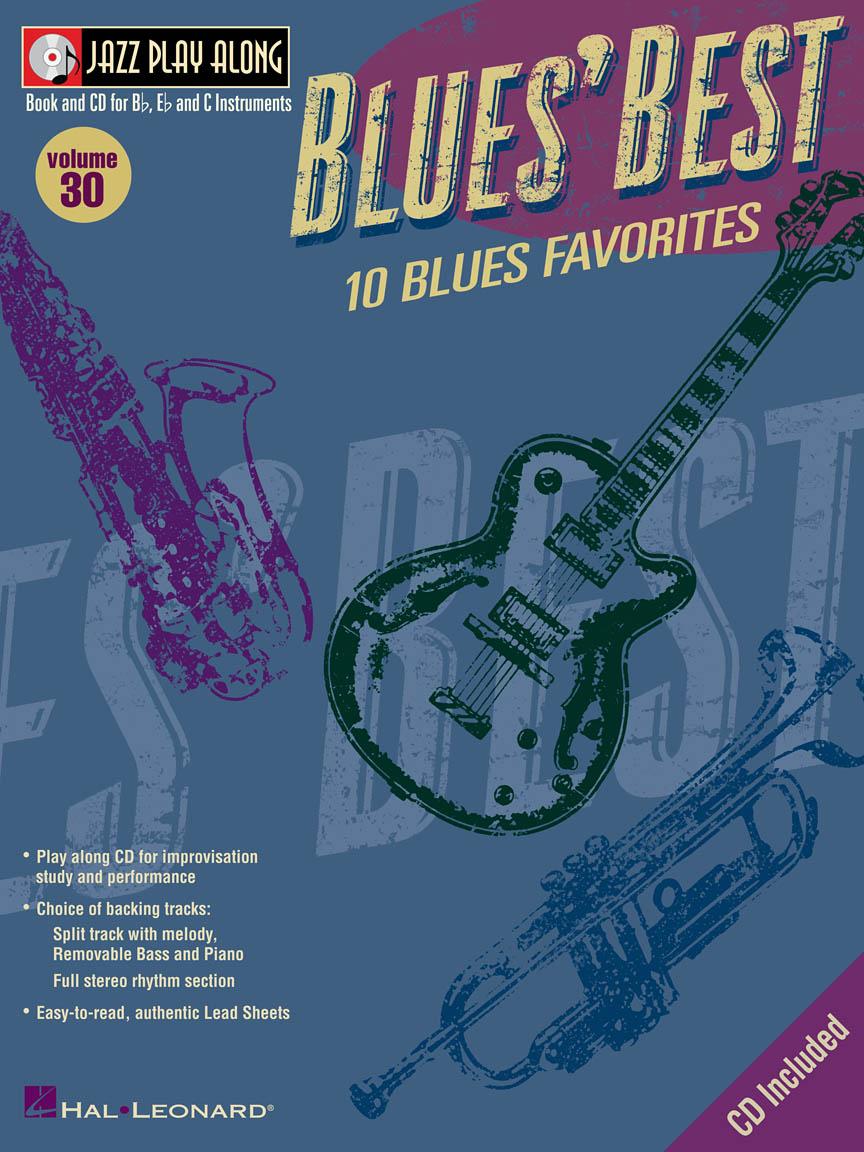 Blues' Best : Jazz Play-Along Volume 30 : Book/CD Pack : # 843023