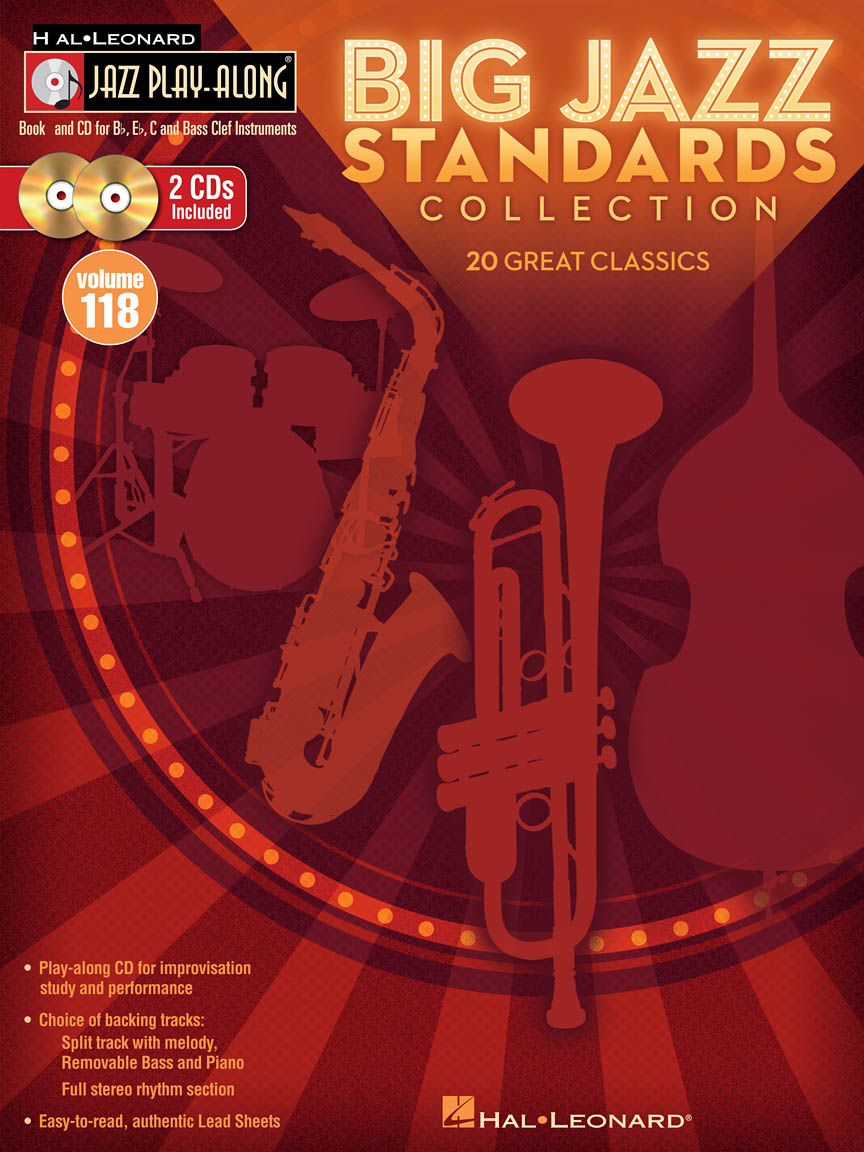 Big Jazz Standards Collection : Jazz Play-Along Volume 118 : Book/2-CD Pack  : # 843167