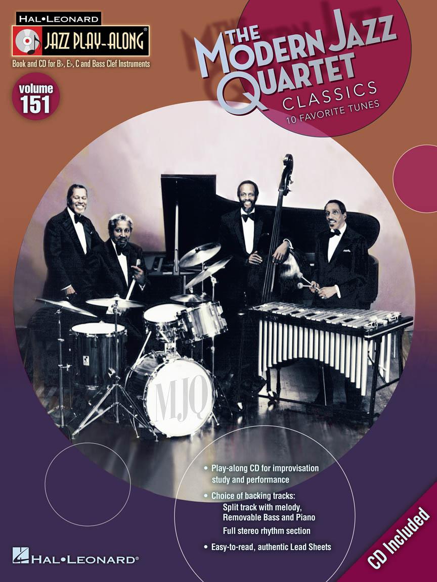 Modern Jazz Quartet Classics : Jazz Play-Along Volume 151 : Book/CD Pack :  B-flat, E-flat, C & Bass Clef Instruments : # 843209