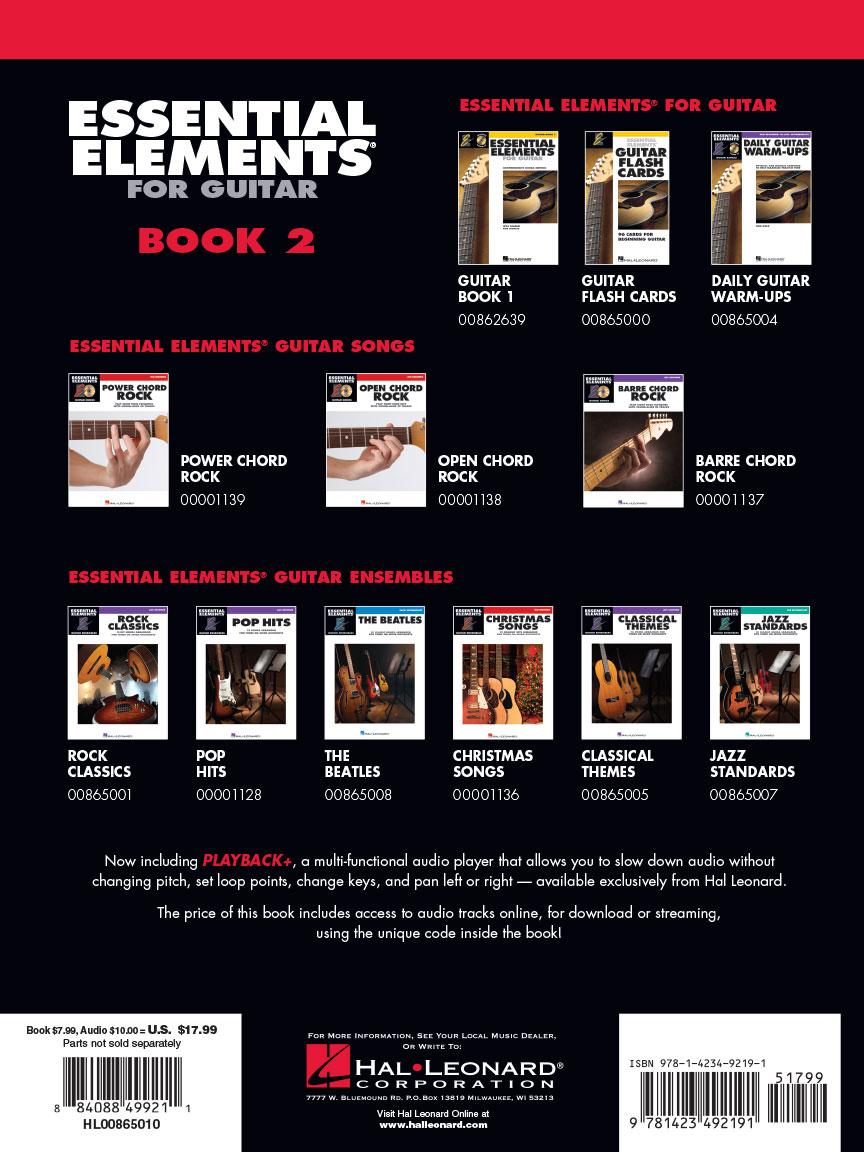 essential elements for guitar book 2 bob morris book online audio 865010. Black Bedroom Furniture Sets. Home Design Ideas