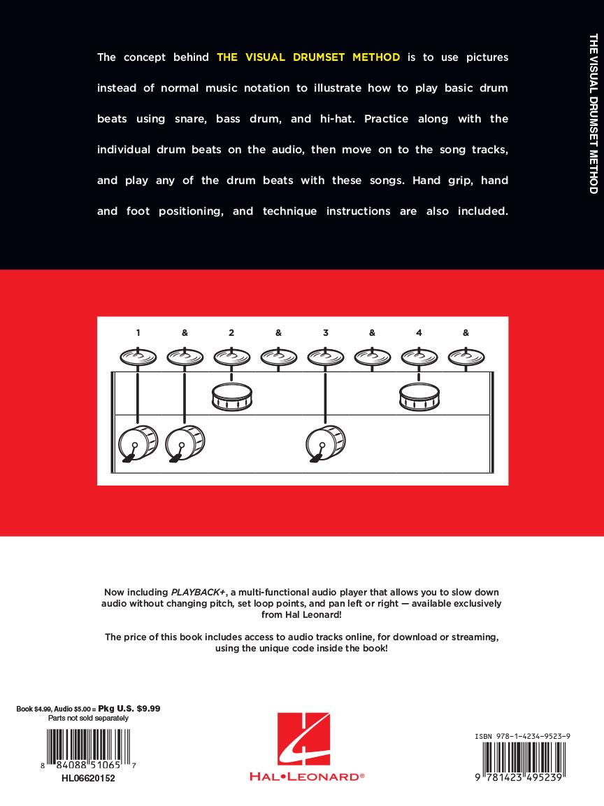 The Visual Drumset Method : by Matt Adrianson : Book/Online Audio : #  6620152