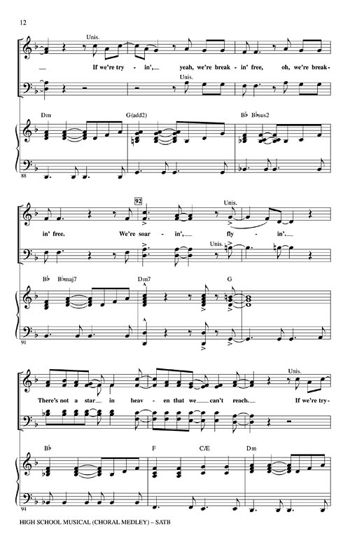 High School Musical (Choral Medley) Sheet Music by Audrey Snyder (SKU:  08745630) - Stanton's Sheet Music