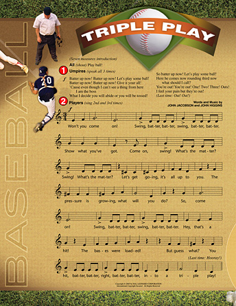 """Triple Play (with """"Take Me Out to the Ball Game"""")"""