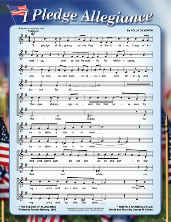 """I Pledge Allegiance (with """"You're a Grand Old Flag"""")"""