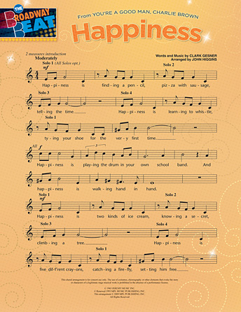 Happiness (from <i>You're A Good Man, Charlie Brown</i>)