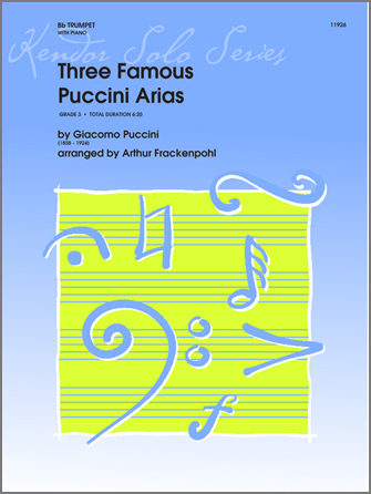 Three Famous Puccini Arias - Piano/Score