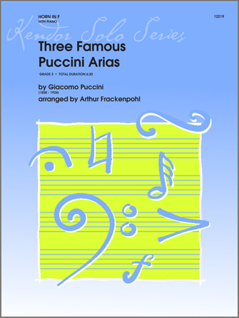 Three Famous Puccini Arias - Horn
