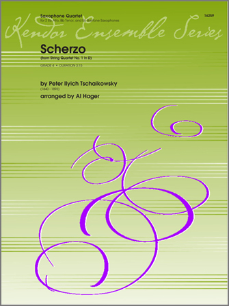 Scherzo (from String QuartetNo. 1 In D) - Full Score