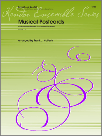 Musical Postcards (10 Saxophone Quartets From Around The World) - Full Score