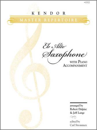 Kendor Master Repertoire - Alto Saxophone - Piano