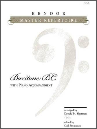 Kendor Master Repertoire - Baritone B.C. - Piano