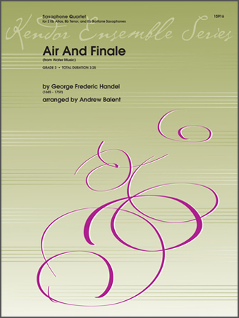 Air And Finale (from Water Music) - Bb Tenor Sax