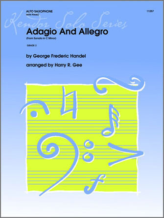 Adagio And Allegro (From Sonata In C Minor) - Solo Eb Alto Saxophone