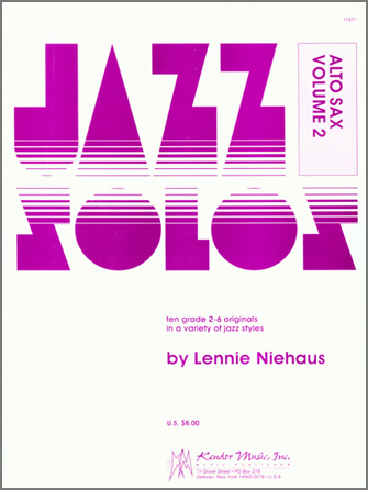 Jazz Solos For Alto Sax, Volume 2