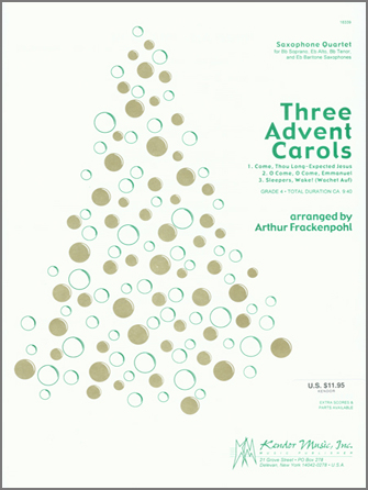Three Advent Carols - Bb Tenor Saxophone